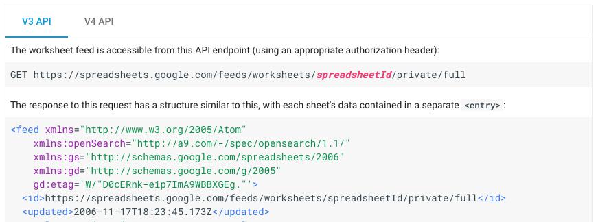 google-sheets-api-v3